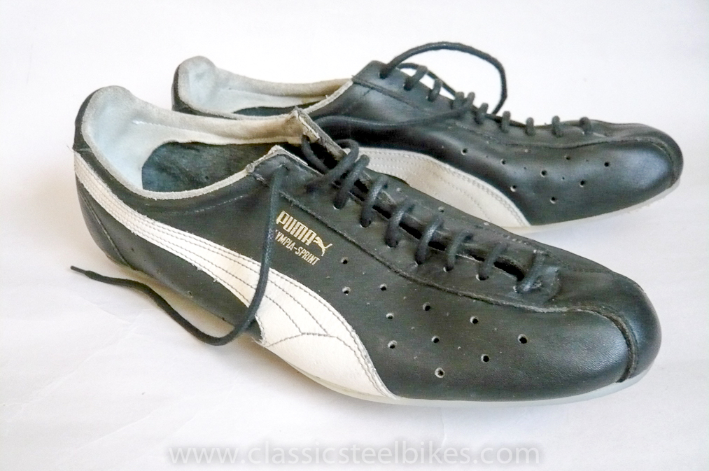 Puma Olympia Cycling Shoes size 46 Classic Steel Bikes